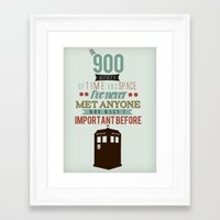 doctor who Framed Art Prints featuring Doctor Who by Ashley