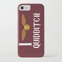 quidditch iPhone & iPod Cases featuring I love Quidditch by Danielle Podeszek