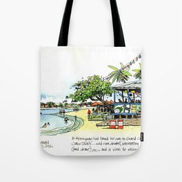 Calico Jack's, Grand Cayman (with notes) Tote Bag