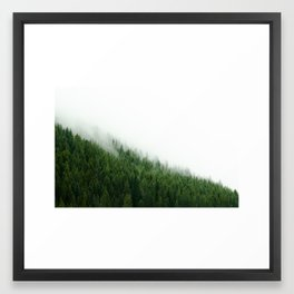 Wild and Free - Forest Fog Photograph, Tree Photo Print, Nature Photography Framed Art Print