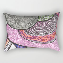 MultiDoodle Rectangular Pillow