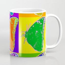 Poster with butterfly picture in pop art style Coffee Mug