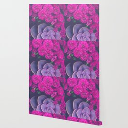 Flowers and Echeveria Wallpaper