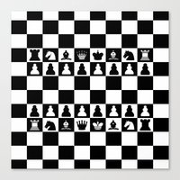 chess Canvas Prints featuring chess by Vickn