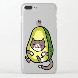 Cat Avocado Clear iPhone Case