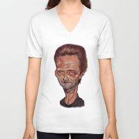 christopher walken V-neck T-shirts featuring Christopher Walken by Nicolas Villeminot