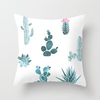 desert Throw Pillows featuring Desert by Annet Weelink Design