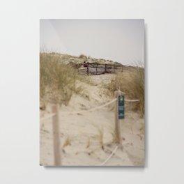 Walking In The Dunes Metal Print