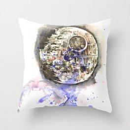 Star War Art Painting The Death Star Throw Pillow