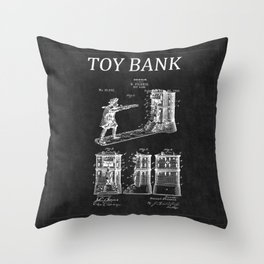 Toy Bank Patent 6 Throw Pillow