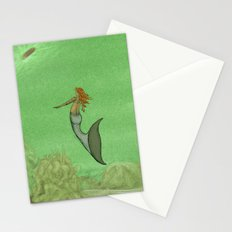 The Golden Mermaid Stationery Cards