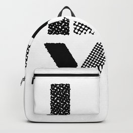 LOVE black-white contemporary minimalist vintage typography poster design home wall decor bedroom Backpack