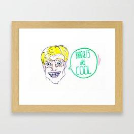 Cool guys wear brackets Framed Art Print