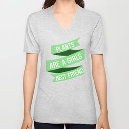 Plants are a girls best friend Unisex V-Neck