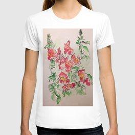 Blind Contour Snapdragon T-shirt