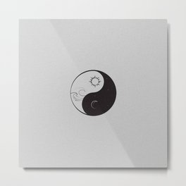 Yin Yang / Sun and Moon Metal Print