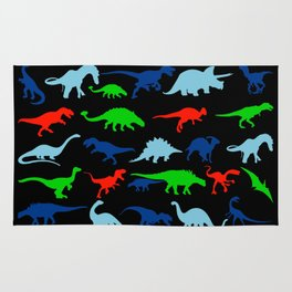 vector set silhouettes of dinosaur Rug