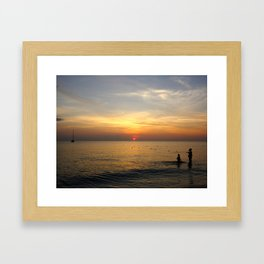 Jamaica bath time Framed Art Print