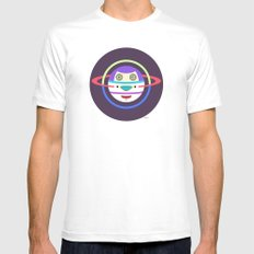 Spaceman 2 Mens Fitted Tee MEDIUM White
