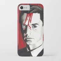 dale cooper iPhone & iPod Cases featuring Agent Dale Cooper by Narnia Tattoos