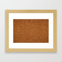 Sea of instant coffee Framed Art Print