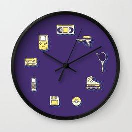 90s Stuff Wall Clock