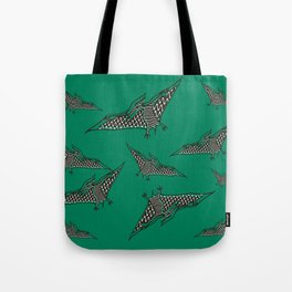 Pterosauria green Tote Bag