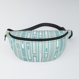Ocean Reflection – Blue / Teal Midcentury Abstract Fanny Pack