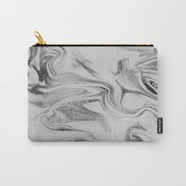 Spilled Ink Marble Carry-All Pouch