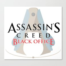 Assassin's Creed Black Office Canvas Print