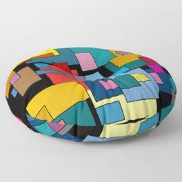 Color Blocks #4A Floor Pillow
