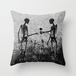 skeleton lovers Throw Pillow