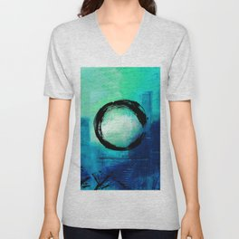 Enso No.MM13D by Kathy Morton Stanion Unisex V-Neck