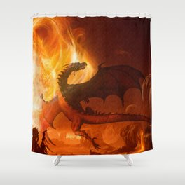 Dragon's world Shower Curtain