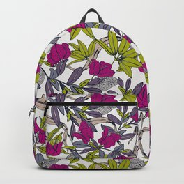Pattern with bougainvillea flowers Backpack