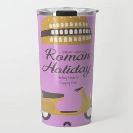 Roman Holiday, Audrey Hepburn,movie poster, Gregory Peck, William Wyler, romantic hollywood film Travel Mug