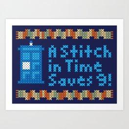 A Stitch in Time Art Print