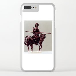 Don Quixote by Shimon Drory Clear iPhone Case