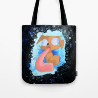 ale giorgini Tote Bags featuring Ale the Dog and his Drool by LaughingGal