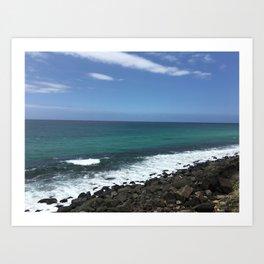 Burleigh Heads Australia Ocean Art Print