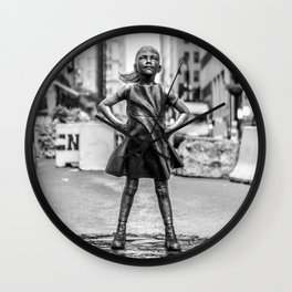 Fearless Girl NYC Wall Clock