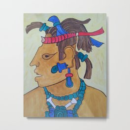 MAYAN CHIEF- SPEAR THROWER Metal Print