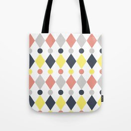 Rhombus and circle pattern Tote Bag