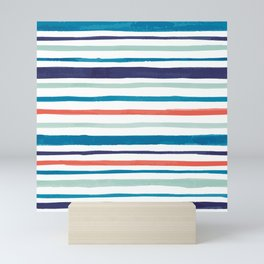 Scribbly Colored Lines Mini Art Print