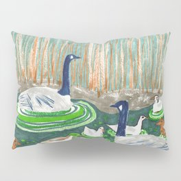 Water Friends drawing by Amanda Laurel Atkins Pillow Sham