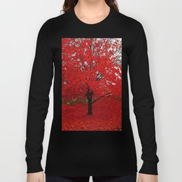 TREES RED Long Sleeve T-shirt