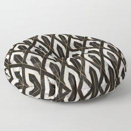 Art Deco Marble Pattern Floor Pillow