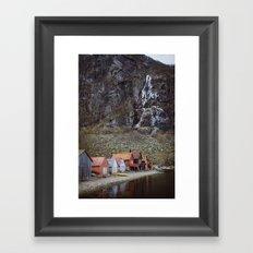 frozen water at Frafjord, Norway Framed Art Print