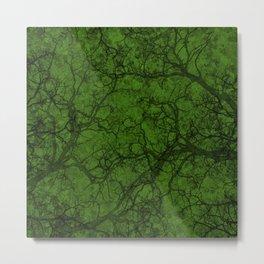 Leaf Green Hunting Camo Pattern Metal Print