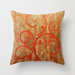Pompeii Red (encaustic painting) Throw Pillow